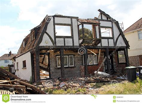 Tudor House Plans With Photos demolition of peggotty house editorial photo image 55682991