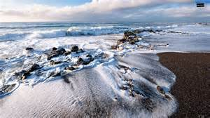 Crashing On The by Waves Crashing On The Wallpaper 1600 215 900 Wallpaper