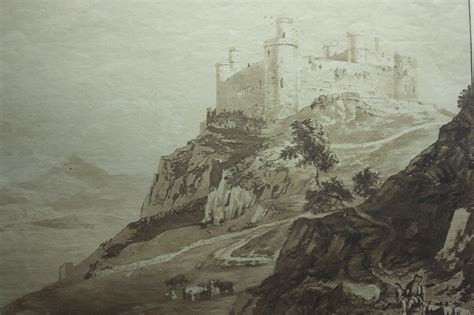 Painting Bedrooms Ideas three part battlemap of the 13th century harlech castle in