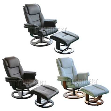 office chair recliner ergonomic new faux leather ergonomic office armchair swivel recliner