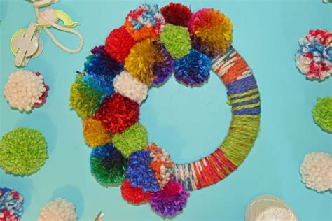how to make a pomeranian fluffy how to make a yarn pom pom wreath for any occasion
