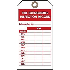 printable fire extinguisher tags fire extinguisher monthly log pictures to pin on pinterest