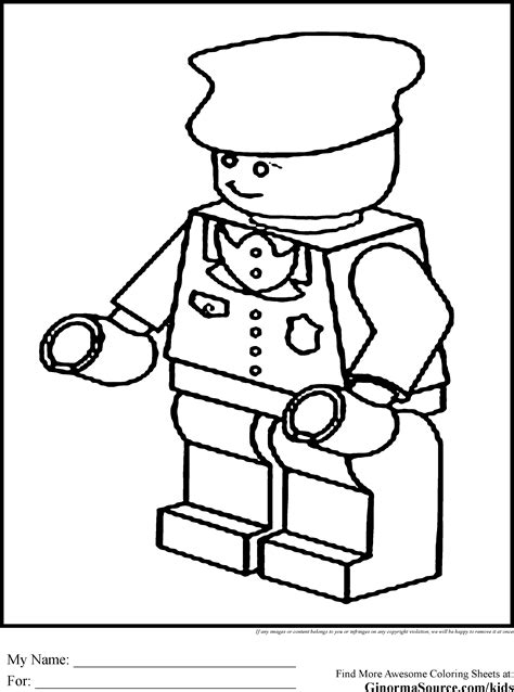 free coloring pages of police man lego