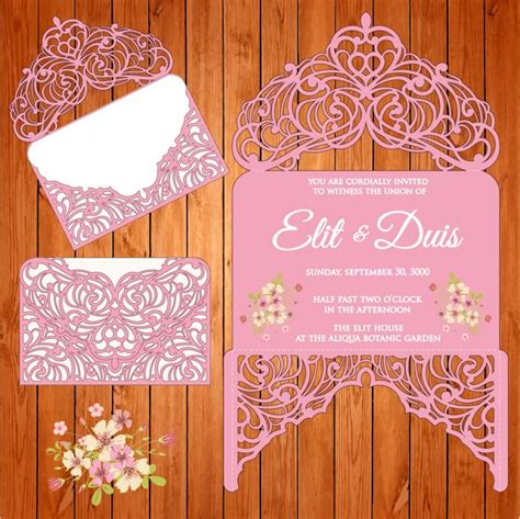 Wedding Card Eps by Wedding Card Invitation Template Draught Arabesques