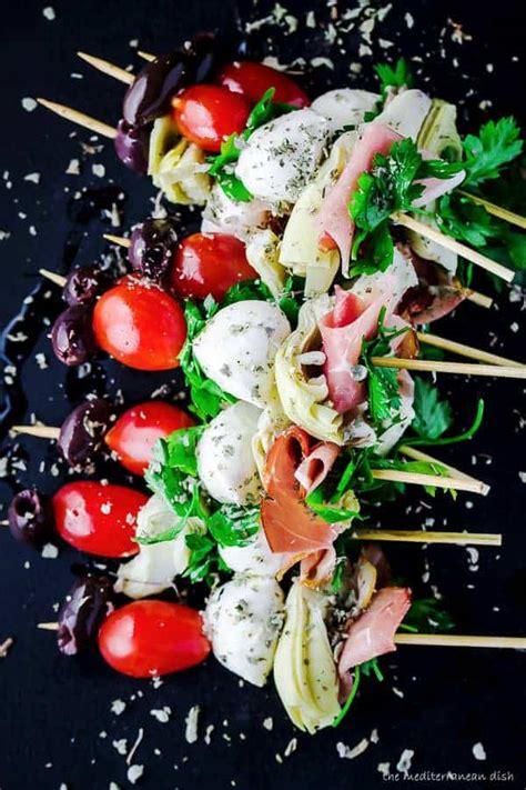 easy antipasto skewers  mediterranean dish