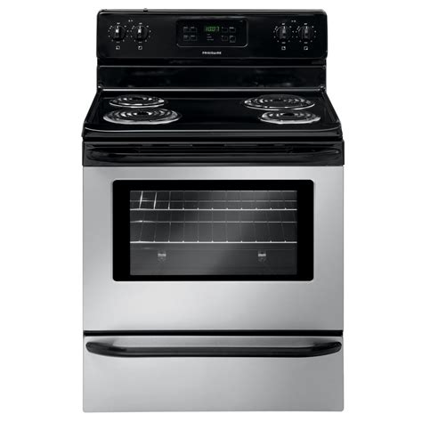 stainless steel stove shop frigidaire freestanding 5 3 cu ft self cleaning electric range stainless steel common