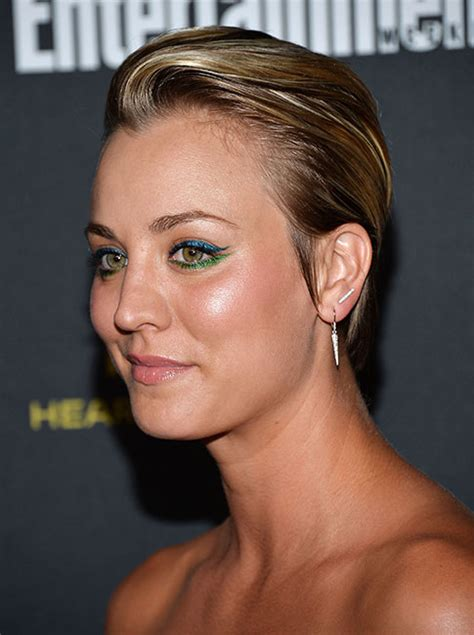 kate nauta with a short haircut slicked back with gel 10 times kaley cuoco gave us short hair envy and how to