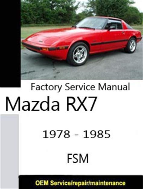 manual repair free 1984 mazda rx 7 regenerative braking mazda rx7 only repair manuals