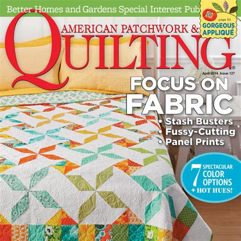Quilting American Patchwork Magazine - american patchwork quilting april 2014 allpeoplequilt