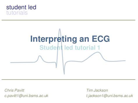 ecg tutorial powerpoint the basics of ecg interpretation
