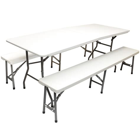 trestle table bench hartleys 6ft folding trestle table 2 6ft benches outdoor