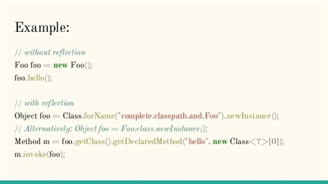 tutorial java reflection java reflection