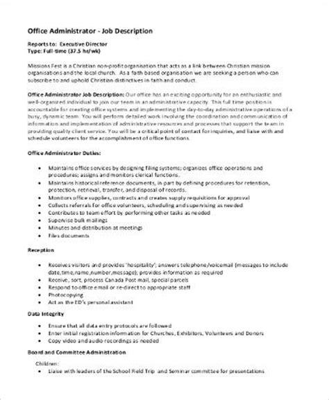 sle administrator description 9 exles in pdf