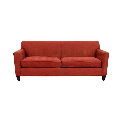 crate and barrel lounge sofa hennessy sofa 56 off crate barrel cardinal red hennessy