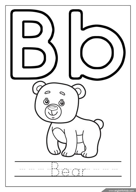 Alphabet B Coloring Pages by Printable Alphabet Coloring Pages Letters A J