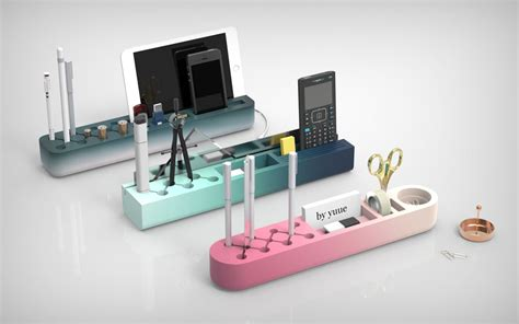 designer desk accessories and organizers one desk organizer clever cuts and color gradients