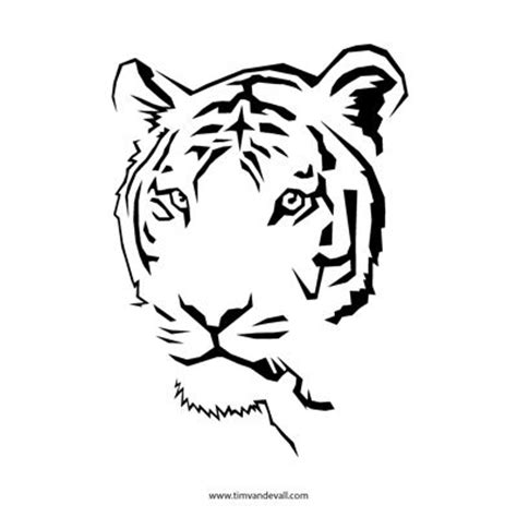 tiger template printable tiger stencil stencil stencils and tigers