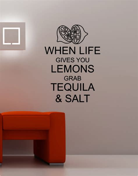 kitchen wall quote stickers when gives you lemons wall sticker vinyl quote kitchen lounge keep calm ebay