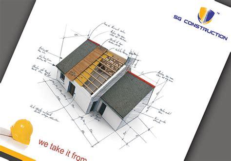 house construction company sg construction company profile brochure on behance