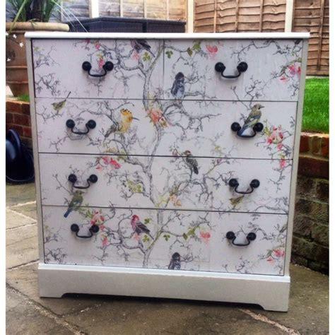 shabby chic bird print chest of drawers my painted