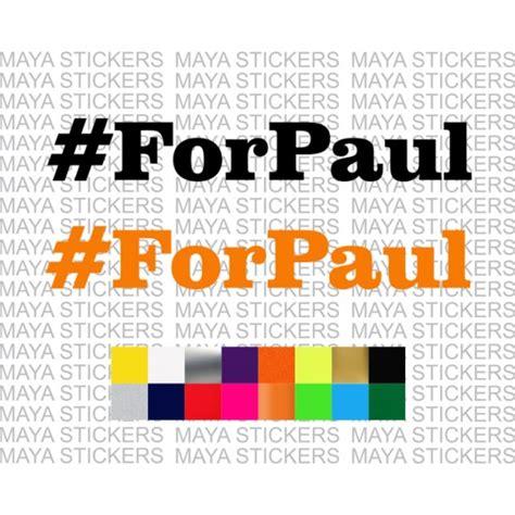 Paul Walker Bike Stickers by Forpaul Stickers For Cars Bikes Laptops