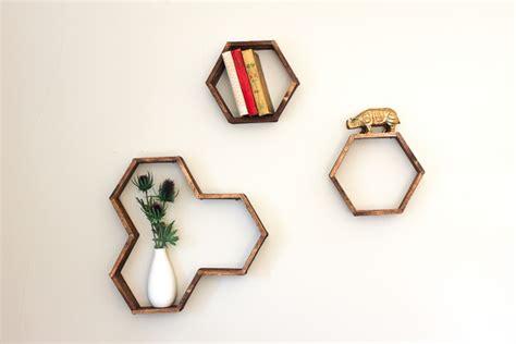 make a diy hexagon shelf with popsicle sticks huffpost