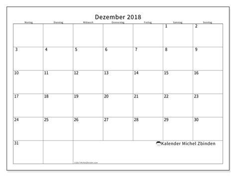 Kalender Dezember 2018 Kalender Zum Ausdrucken Dezember 2018 Horus Schweiz