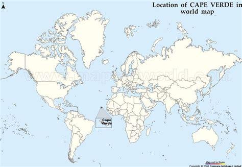 cape verde in world map cape verde map