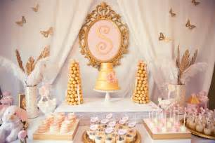 pink and gold baby shower via kara s ideas