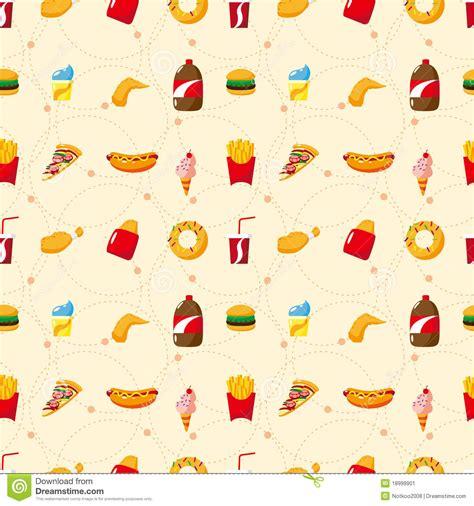 seamless pattern food seamless fast food pattern stock image image 18999901