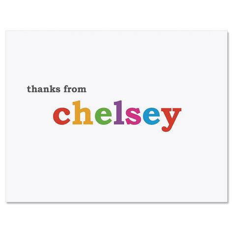 Thank You Letter Gift Card - paintbox personalized thank you note cards current catalog