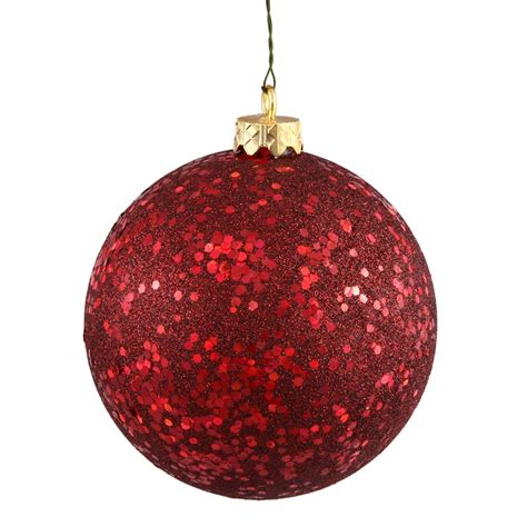 maroon christmas decorations vickerman 34900 4 quot burgundy sequin tree ornament 6 pack n591005dq