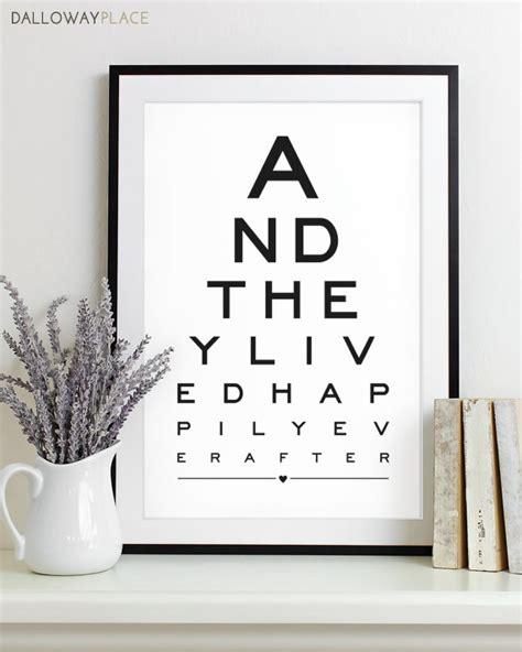 printable eye chart gift wall art print eye chart love quote art by dallowayplace
