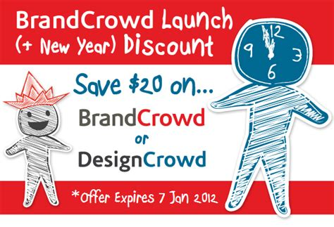 designcrowd voucher brandcrowd discount code save 20 on any logo