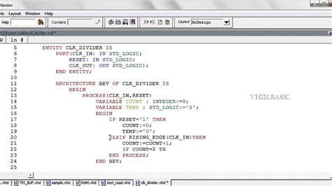 piso verilog code vhdl basic tutorial clock divider youtube