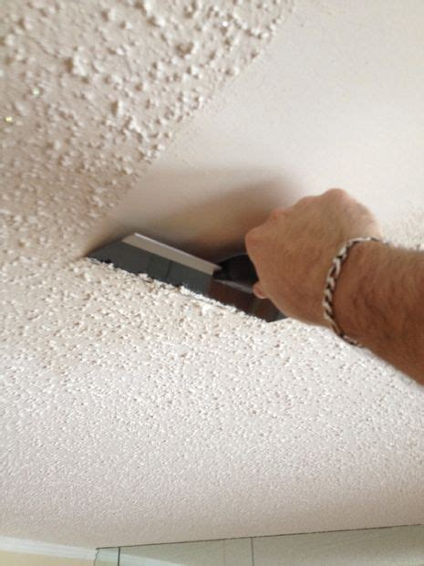 Best Way To Remove Ceiling Paint by Removing Popcorn Ceilings All
