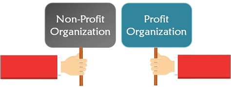 difference between profit and non profit organisation