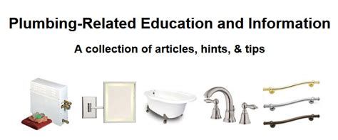 Plumbing Topics by Articles And Helpful Information About Plumbing And