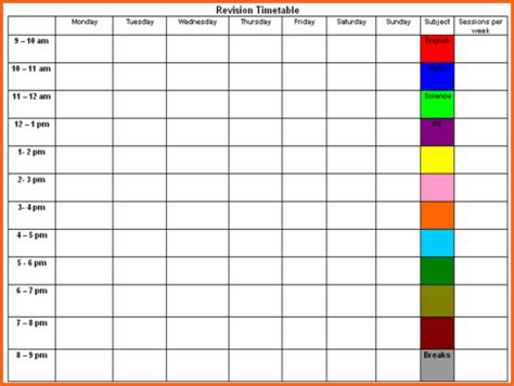 weekly timetable template word budget template letter