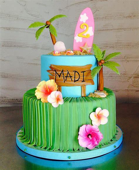 bizcocho decorado hawaiano hawaiian beach 2nd birthday cake hawaiian birthday