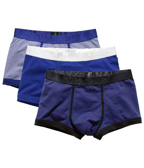 H M 3pack Boxer lyst h m 3 pack boxer shorts in blue for