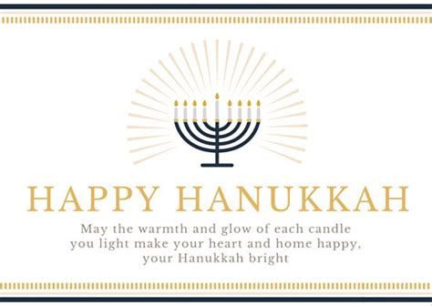 lighted menorah happy hanukkah greeting card templates