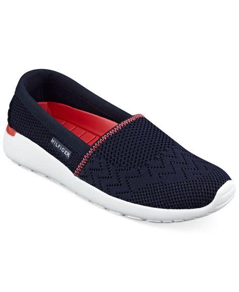 hilfiger womens sneakers hilfiger s tavia slip on sneakers in blue