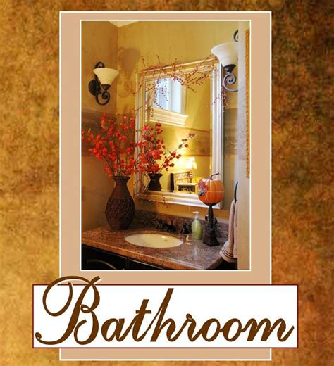 Fall Bathroom Decor by Fall Decor For Bathroom Home Sweet Home