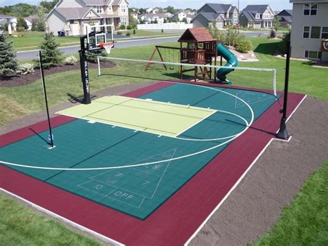 a multi sport residential backyard court is the