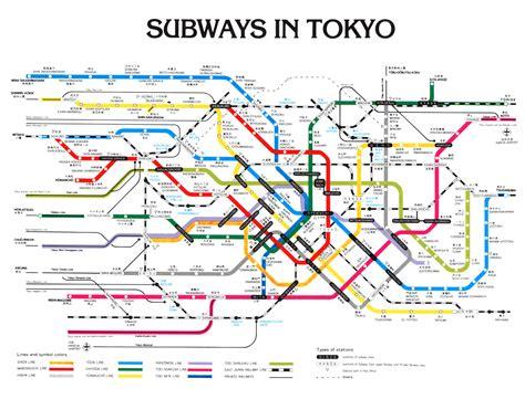 tokyo metro map tokyo subway map tokyo mappery