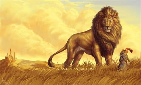 aslan the from narnia narnia by atan on deviantart