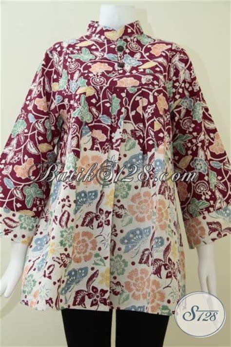 Baju Batik Pejabat Wanita baju batik warna merah hati yang banyak disukai wanita pejabat bls1374c xl toko batik
