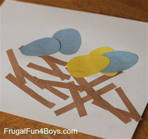 Toddler Construction Paper Crafts - toddler craft construction paper bird s nest