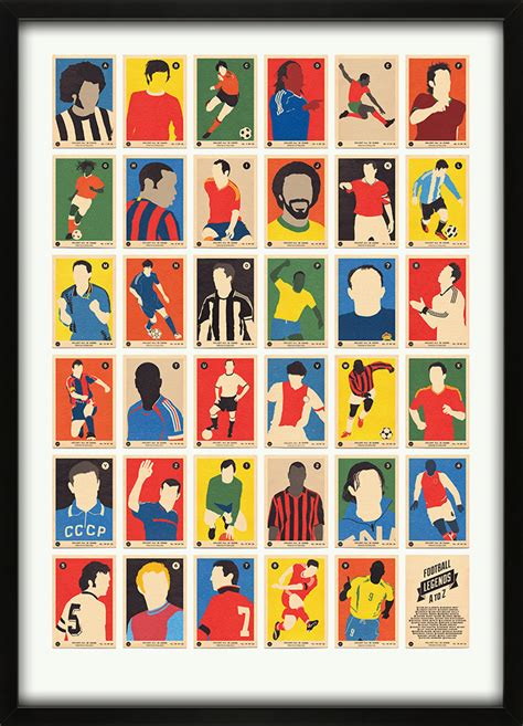 Football Team With Letter Z football legends a to z print alphabet a
